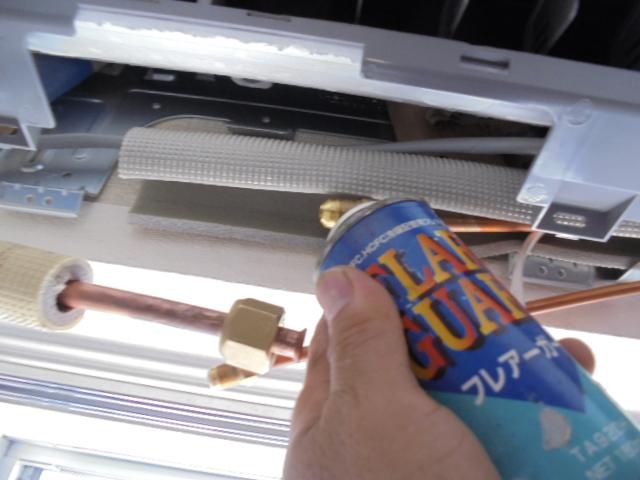 エアコン冷えない エアコンフレアガードーオイル