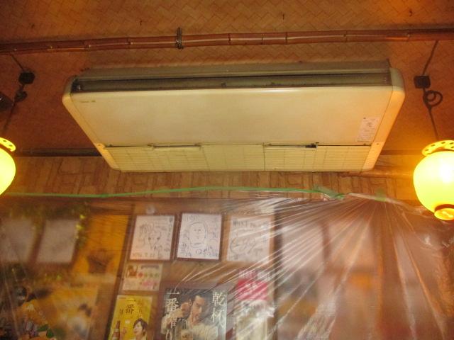 大宮駅5分 居酒屋の業務用エアコン取付作業 SZRH112BC