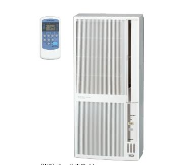 コロナ窓設置エアコン 冷暖房兼用 CWH-A1819-WS 配管できない場所にはこれ 窓に設置するだけ!